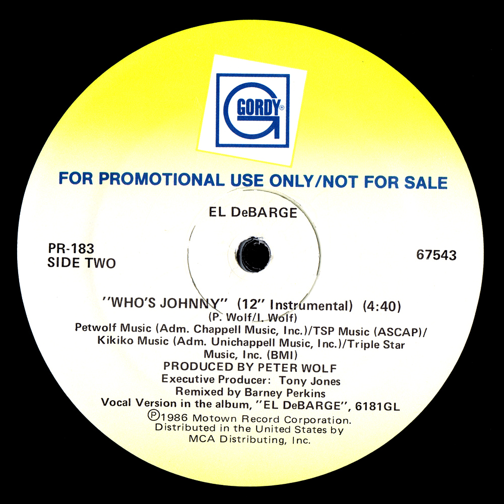 El DeBarge - Who's Johnny (US 12'' Promo)