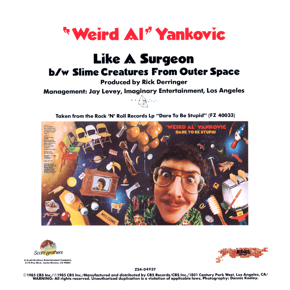''Weird Al'' Yankovic - Like A Surgeon (US 7'')