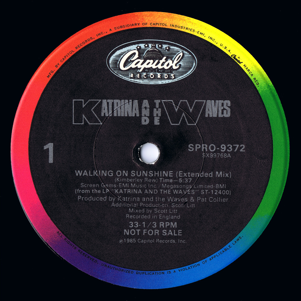 Katrina And The Waves - Walking On Sunshine (US 12'' Promo)