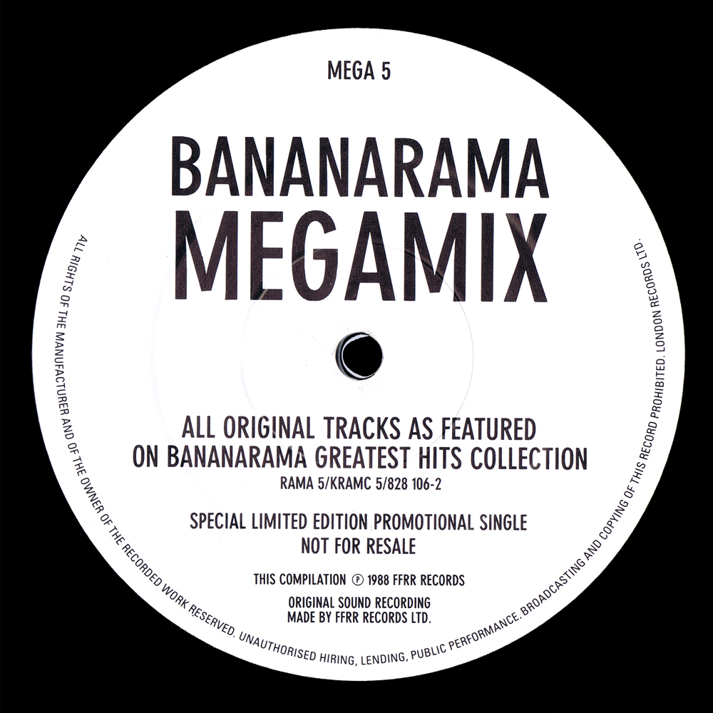 Bananarama - Bananarama Megamix (Limited Edition UK 12'' Promo)