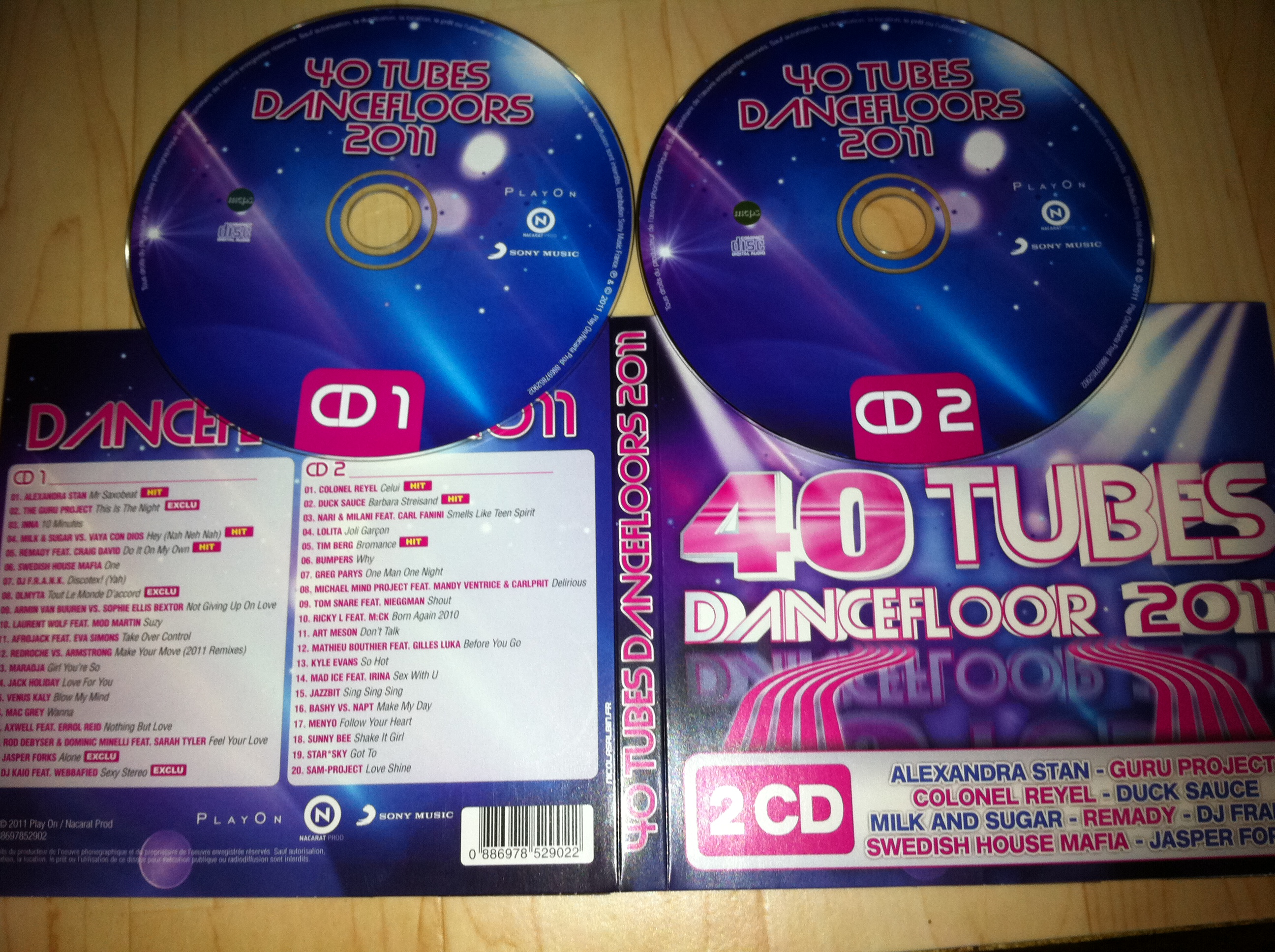 VA - 40 Tubes Dancefloor 2011 2CD 2011 (CD ORIGINAL)