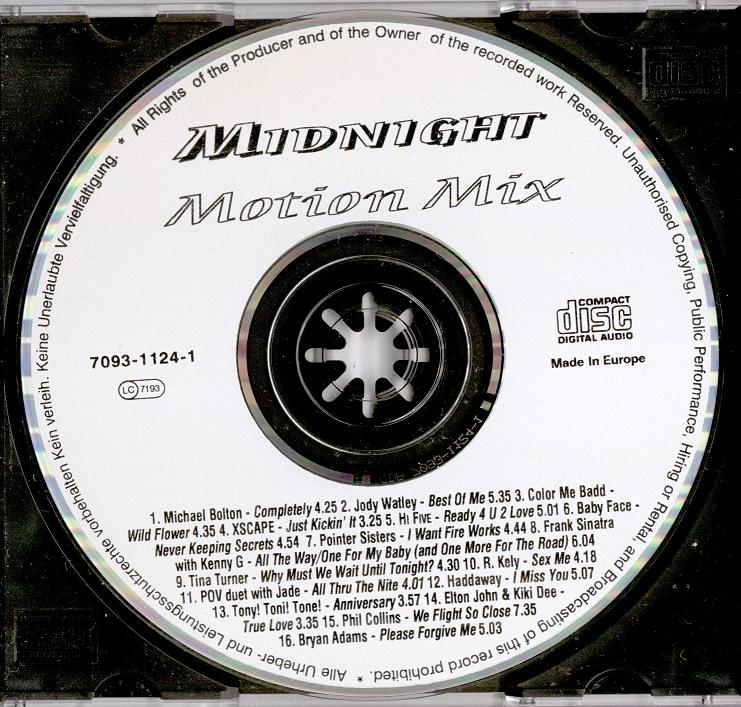 VA - Midnight Motion Mix (1993)