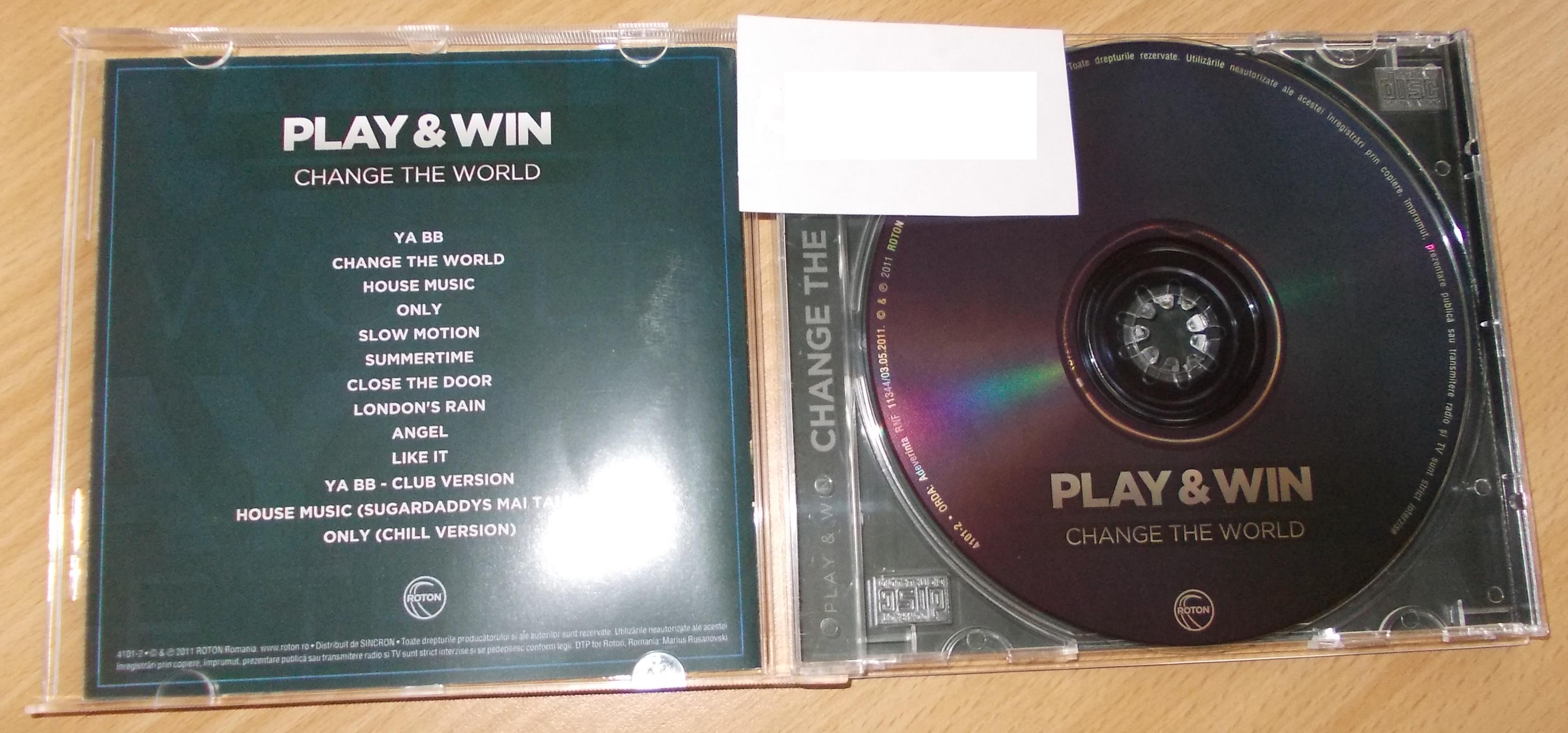 Play & Win - Change The World 2011 [ ALBUM CD ORIGINAL ]