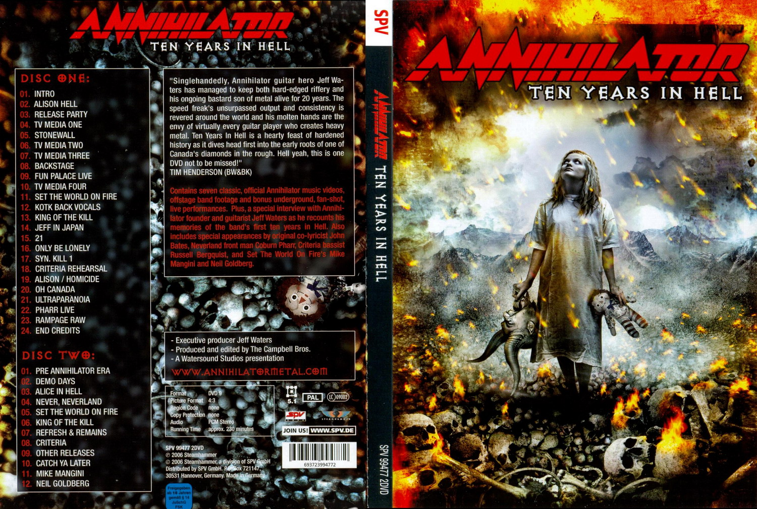 Annihilator - Ten Years in Hell (2 X DVD 9)