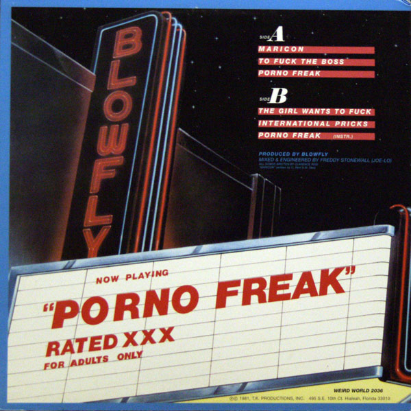 Blowfly - Porno Freak (1981, Weird World)