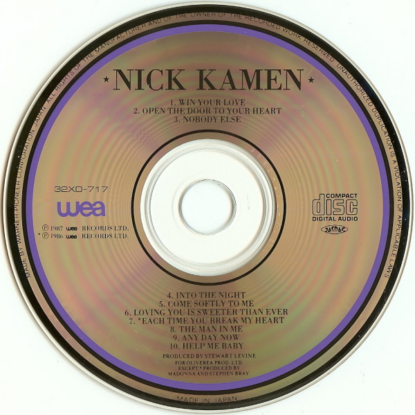 Nick Kamen - Whatever, Whenever - Full Album