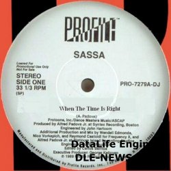 Sassa - When The Time Is Right 12´´ Promo