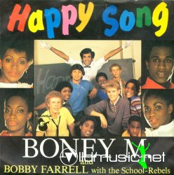 Boney M and Bobby Farrell with the school rebels - Happy song (club mix) - 12''-1984