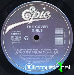 The Cover Girls - Don't Stop Now / Funk Boutique (Epic Vinyl 12