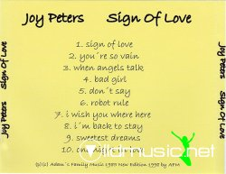 Joy Peters - Sign Of Love - 1986