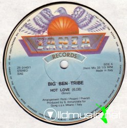 Big Ben Tribe - Hot Love  Hea Hea Vinyl,12'' 1983