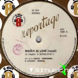 "Reportage - Madly In Love 12"" Maxi [Rare]"