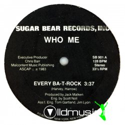 Who Me - Every Ba-T-Rock 12'' Vinyl US 1984