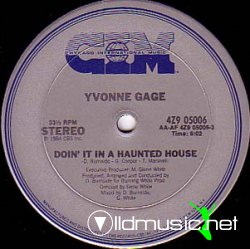 Yvonne Gage - Doin' It In A Haunted House 12'' Vinyl US 1984