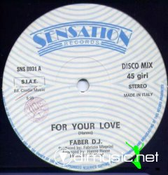 "Faber D.J. - For Your Love 12"" Maxi [Rare]"