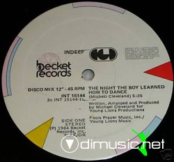 "Indeep - The Night The Boy Learned How To Dance 12"" Maxi [Rare]"