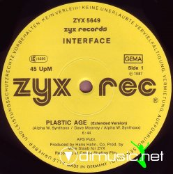 "Interface - Plastic Age 12"" Maxi [Rare]"