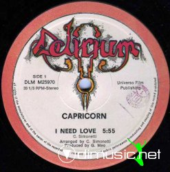 "Capricorn - I Need Love 12"" Maxi [Rare]"