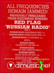 Red Flag - Russian Radio (Previously Unreleased Razormaid Fresh Remixes) (Vinyl) (1989)