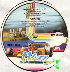 "Gazuzu - Drums On Fire (Remix) / Nana Banana 12"" Maxi [Rare]"
