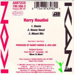 Kon Kan - Harry Houdini (3'') (Compact CD Single) (1989)