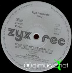 Admirors - Come Into My Life  (Rap) - 12'' Single - 1988