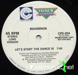 Bohannon - Let's Start The Dance III  -12'' Single -1983
