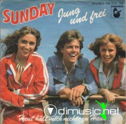 Sunday  - Jung Und Frei - 7 Single -1981