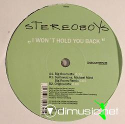 Stereoboys - I Won`t Hold You Back (Incl Big Room Mix) (Vinyl - 2008)