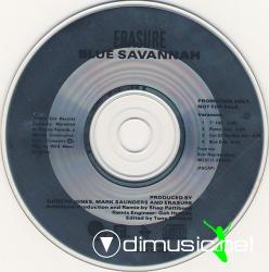 Erasure - Blue Savannah (US Promo CD Maxi) 1989