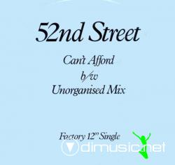 52nd Street - Can't Afford - Vinly 12'' - 1984