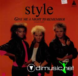 Style - Give Me A Night To Remember Vinly 12'' - 1986