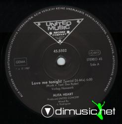 Alita Heart-Love Me Tonight-Vinyl-1987