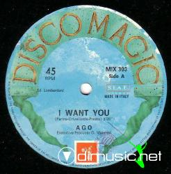 Ago - I Want You  - 12'' Single - 1986