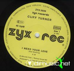 Cliff Turner-I Need Your Love-Vinyl-1987