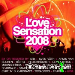 Cover Album of VA-Love Sensation 2008