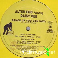 Cover Album of Alter Ego (6) Featuring Daisy Dee - Dance (If You Can Not) (Vinyl)
