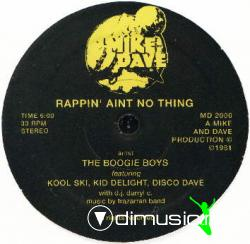 Boogie Boys - Rappin' Aint No Thing 12Inch (1981)