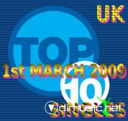 Top 10 Singles 1st March 2009