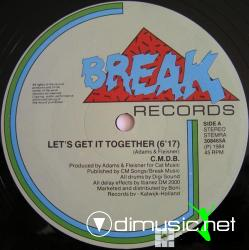 C.M.D.B. - Let's Get It Together - Single 12'' - 1986