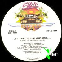 Elaine Charles - Lay It On The Line - Single 12'' - 1987