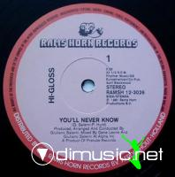 HI - GLOSS - YOULL NEVER KNOW [1981]