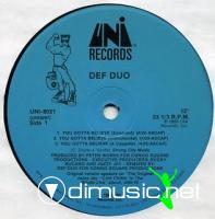 Def Duo - You Gotta Believe & Do Dat Dance [12'' Vinyl 1989]
