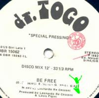 Dr. Togo - Be Free - Single 12'' - 1982