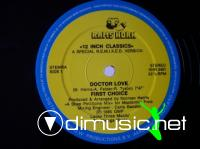 First Choice  - Doctor Love - Single 12'' - 1986