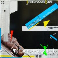 Paparazzi Featuring Jody - I Need Your Love - Single 12'' - 1987