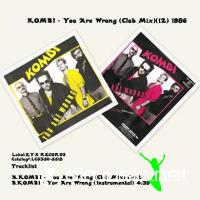 KOMBI - You Are Wrong (Club Mix)(12) 1986