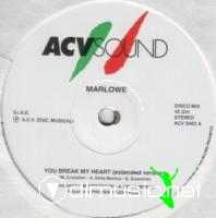 Marlowe - You Break My Heart (Vinyl, 12'') 1989