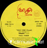 Paul Faber - Only One (Vinyl, 12'') 1987