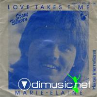 Steve Benson - Love Takes Time - Single 12